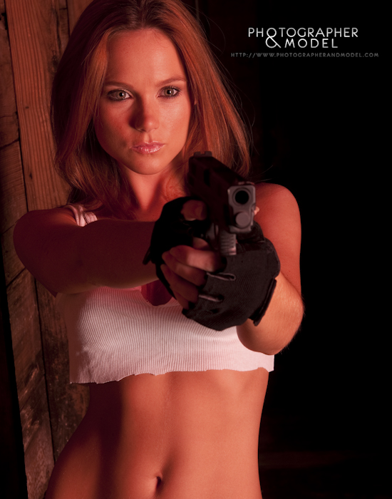 Denise with Springfield XD